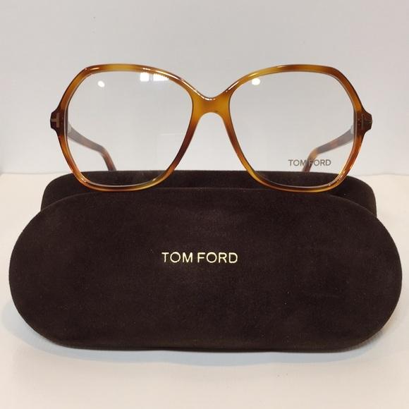 Tom Ford Accessories   New 5300 053 Light Havana Big Lenses 57mm ... 39b84f25670c
